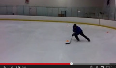 Stick Handling: 3 Cone Tight Turns Drill On the Forehand
