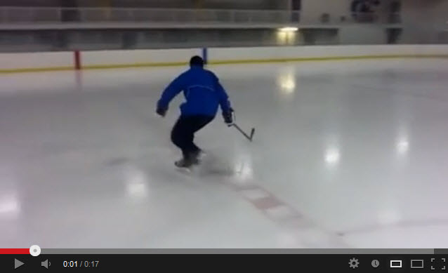 one footed edge work hockey drill
