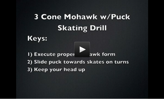3 Cone Mohawk Drill with Puck
