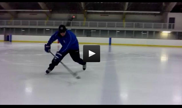 Stick Handling Skills - Flipping puck Over Blueline Forehand and Backhand