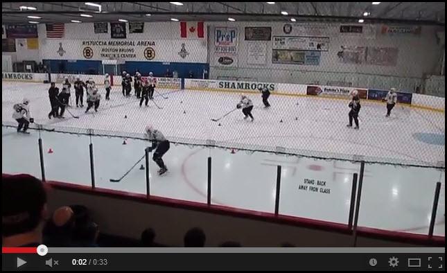 Boston Bruins Backwards Skating Drill