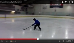 power skating tight turns drill