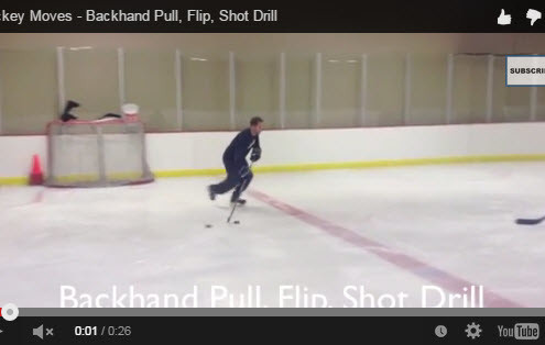 Hockey Shooting Moves - Backhand Pull, Flip and Shoot