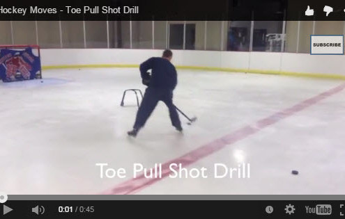 Hockey Shooting Moves - Toe Pull Shot Drill