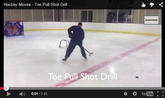 Hockey Shooting Moves - Toe Pull Shot Drill