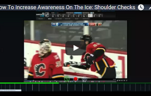How to increase hockey awareness shoulder checks